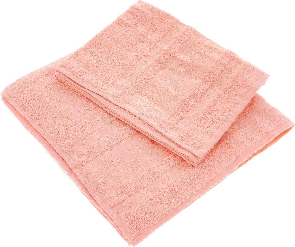 Набор полотенец Tete-a-Tete Цветы, цвет: светло-розовый, 2 шт. УНП-103391602Набор Tete-a-Tete Цветы состоит из двух махровых полотенец, выполненных из натурального 100% хлопка. Бордюр полотенец декорирован цветочным узором. Изделия мягкие, отлично впитывают влагу, быстро сохнут, сохраняют яркость цвета и не теряют форму даже после многократных стирок. Полотенца Tete-a-Tete Цветы очень практичны и неприхотливы в уходе. Они легко впишутся в любой интерьер благодаря своей нежной цветовой гамме.Размеры полотенец: 70 х 140 см, 50 х 90 см.