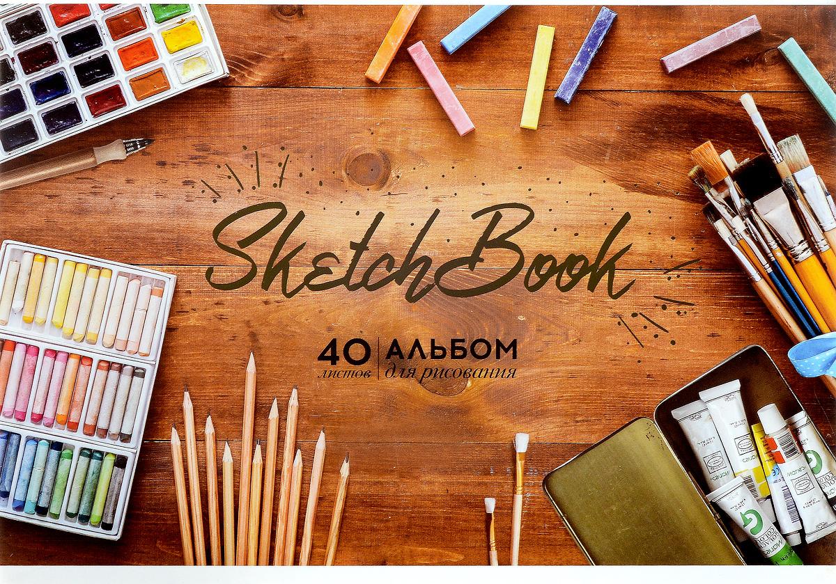 ArtSpace Альбом для рисования Sketch Book 40 листов72523WDАльбом для рисования ArtSpace Sketch Book будет вдохновлять вашего ребенка на творческий процесс.Альбом изготовлен из белоснежной бумаги с яркой обложкой из плотного картона, оформленной золотым теснением. Внутренний блок альбома состоит из 40 листов, соединенных скрепками. Высокое качество бумаги позволяет рисовать в альбоме различными типами красок, фломастерами, цветными и чернографитными карандашами, гелевыми ручками. Занимаясь изобразительным творчеством, ребенок тренирует мелкую моторику рук, становится более усидчивым и спокойным.