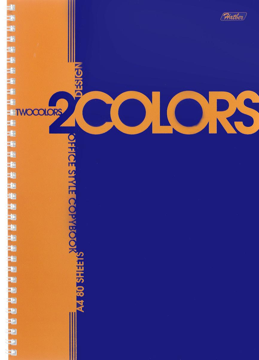 Hatber Тетрадь 2Colors 80 листов в клетку цвет оранжевый синий72523WDТетрадь Hatber 2Colors подойдет для школьников и студентов.Двухцветная обложка, выполненная из плотного картона, позволит сохранить тетрадь в аккуратном состоянии на протяжении всего времени использования. Внутренний блок тетради, соединенный посредством гребня, состоит из 80 листов белой бумаги. Стандартная линовка в голубую клетку. Особой изюминкой является наличие перфорации и отверстий для колец, что позволяет подшивать листы в папки.