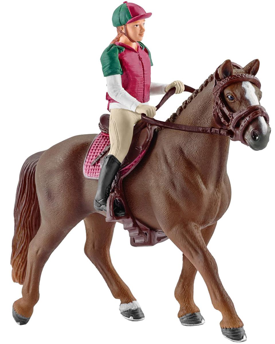 Schleich Фигурка Наездница с лошадью schleich набор фигурок конкуристка с лошадью 42359
