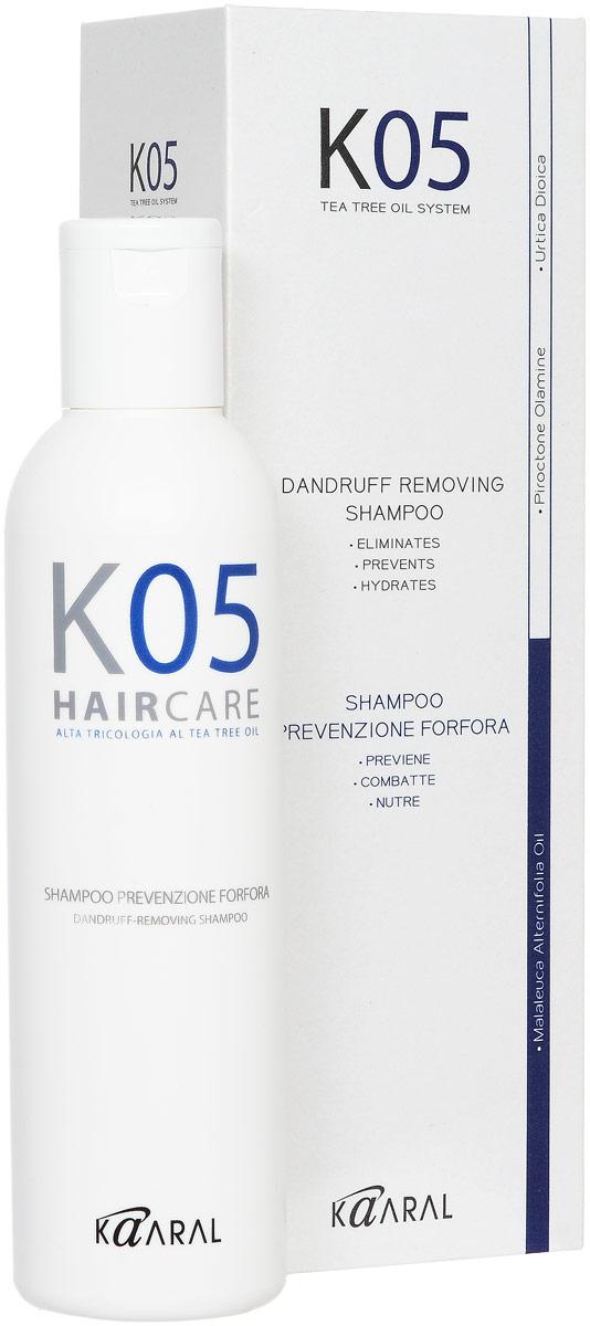 Kaaral Шампунь против перхоти К05 Shampoo Antiforfora, 250 млFS-00897Увлажняющее и успокаивающее действие шампуня обеспечивает качественное очищение сухой кожи головы. Предотвращает шелушение и воспаление кожного покрова, а также появление перхоти.
