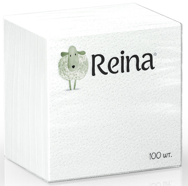 Салфетки бумажные Reina, 1-слойные, цвет: белый, 100 шт98299571Салфетки бумажные Reina, выполненные из натуральной целлюлозы, станут отличным дополнением любого праздничного стола. Они отличаются необычной мягкостью.Количество слоев: 1.