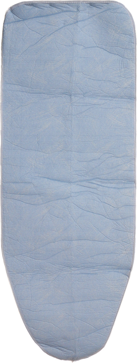 Чехол для гладильной доски Paterra, антипригарный, с поролоном, цвет: голубой, белый, 126 х 46 смGC204/30Антипригарный чехол для гладильной доски Paterra необходим для обеспечения идеального результата в процессе глажения вещей. Он имеет хлопковую основу с особой антипригарной пропиткой из силикона, которая исключает пригорание одежды к чехлу в процессе глажения. Силиконовая пропитка обеспечивает эффект двустороннего глажения: чехол, нагреваясь, отдает тепло вещам. Натуральный хлопок в составе обеспечивает максимальную скорость скольжения утюга и 100% паропроницаемость. Хлопковый чехол имеет подкладку из поролона (мягкого пенополиуретана) оптимальной толщины (4 мм), которая не истончается со временем. Затяжной шнур определяет удобную и надежную фиксацию чехла на доске. Кроме того, наличие шнура делает чехол пригодным для гладильной доски любой формы и меньшего размера. Край хлопкового чехла обработан особой лентой, предотвращающей распускание ткани. Устойчивый рисунок сохраняется длительное время, даже под воздействием высоких температур.Размер чехла: 126 х 46 см.Размер подходящей доски: 125 х 38 см.Толщина подкладки: 4 мм.