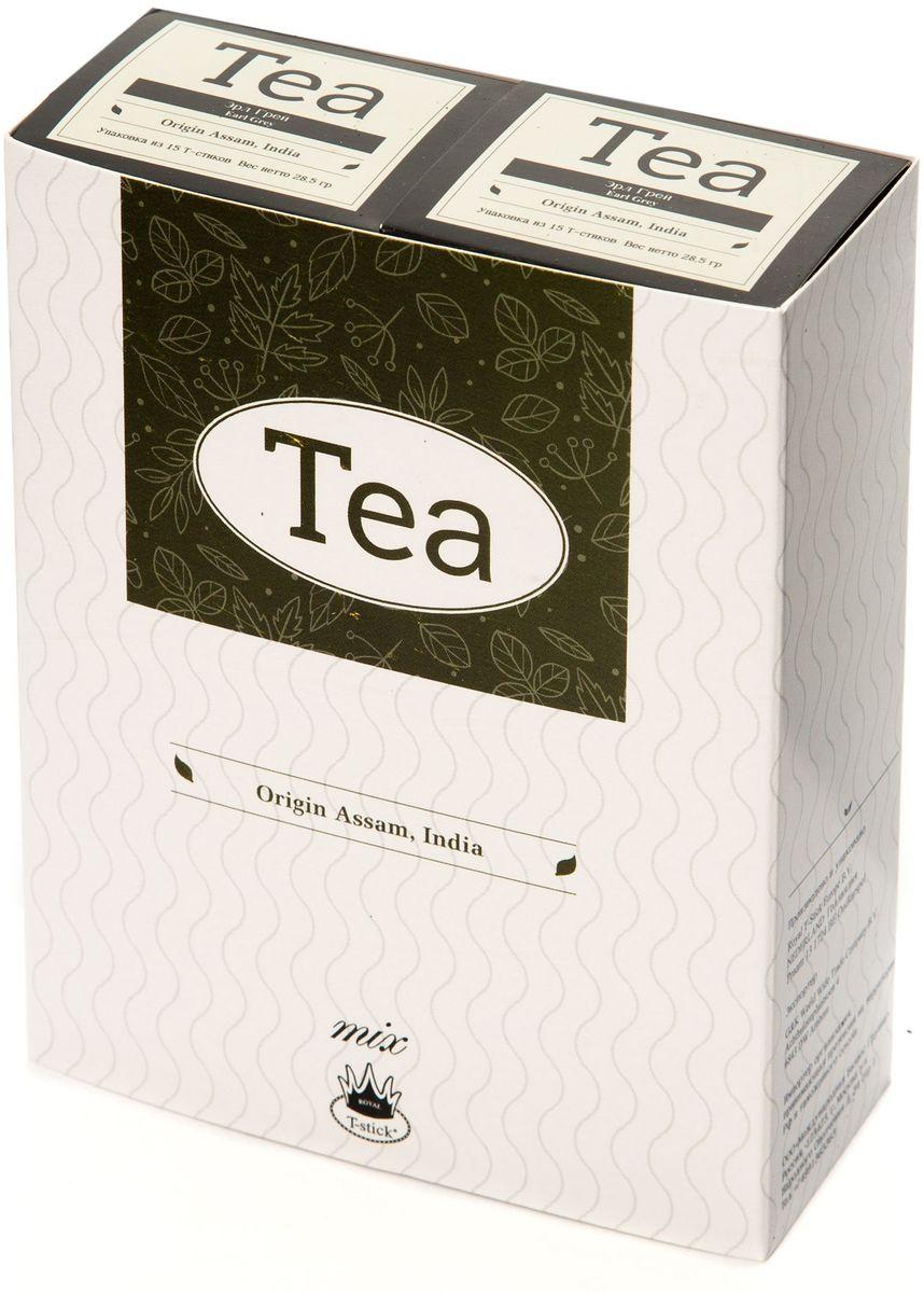 Подарочный набор Royal T-Stick: Earl Grey черный чай и Earl Grey черный чай в стиках, 30 шт0120710Подарочный набор из 2 пачек чая премиум класса упакован в коробку для транспортировки. Чай Ассам с бергамотом порадует вас насыщенным янтарно-красным цветом, терпким ароматом бергамота и пряным, солодово-медовым вкусом. Чай обладает тонизирующим свойством. Чай упакован в пищевую фольгу, которую можно использовать вместо ложечки для размешивания сахара. Опустите стик в кипяток, оставьте на 3 минуты, размешайте кусочек сахара. Достаньте стик из стакана, потрясите им о край стакана, так, чтобы стекли последние капли, и положите рядом. Вся влага останется внутри стика. Прекрасный подарок родным и близким и отличный повод удивить коллег по работе и друзей, внедряя новую, элегантную культуру чаепития!