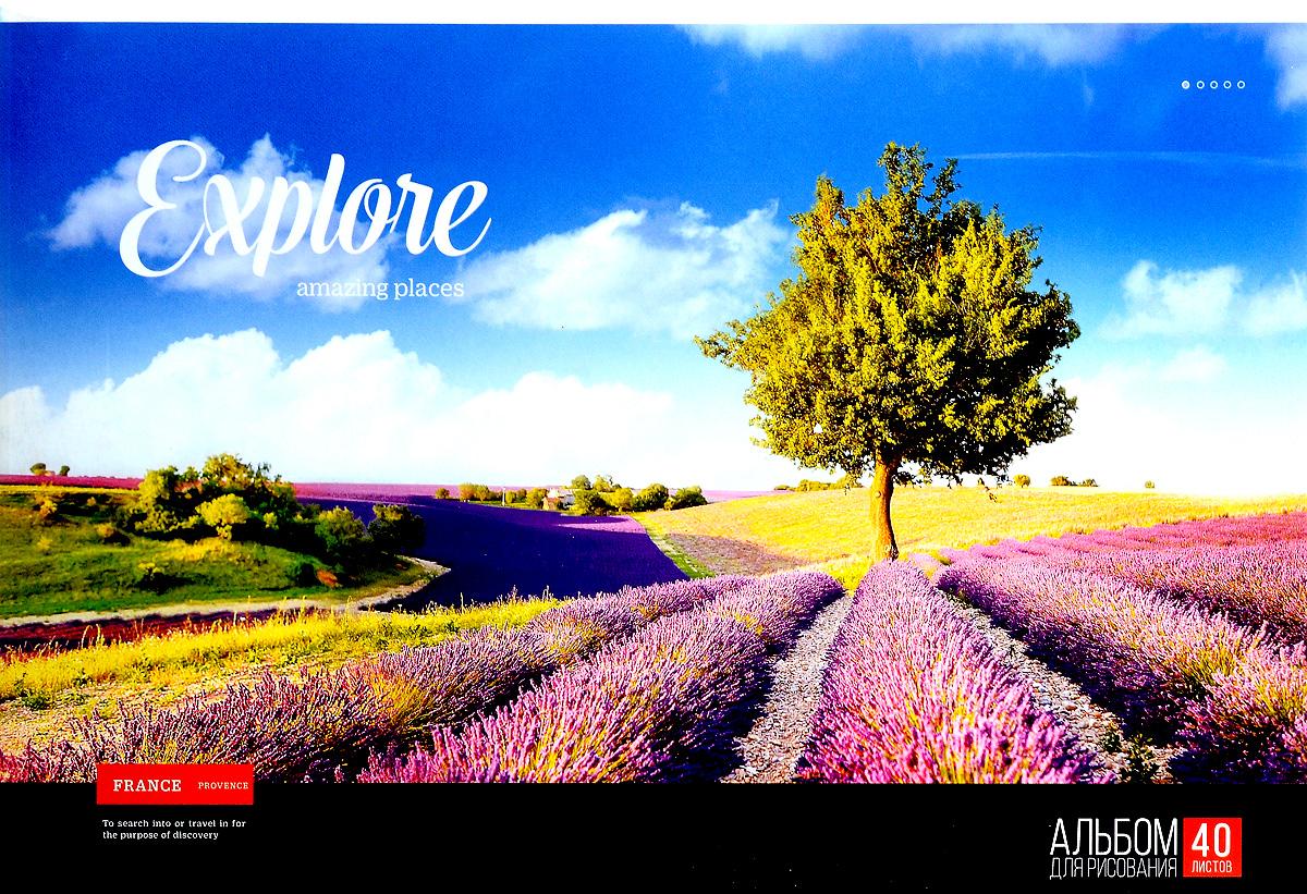 ArtSpace Альбом для рисования France Provence 40 листовА32ГЛ_9087Альбом для рисования ArtSpace France Provence будет вдохновлять ребенка на творческий процесс.Альбом изготовлен из белоснежной бумаги с яркой обложкой из плотного картона, оформленной изображением поля. Внутренний блок альбома состоит из 40 листов бумаги. Тип скрепления альбома - склейка.Высокое качество бумаги позволяет рисовать в альбоме карандашами, фломастерами, акварельными и гуашевыми красками.Во время рисования совершенствуются ассоциативное, аналитическое и творческое мышления. Занимаясь изобразительным творчеством, малыш тренирует мелкую моторику рук, становится более усидчивым и спокойным.