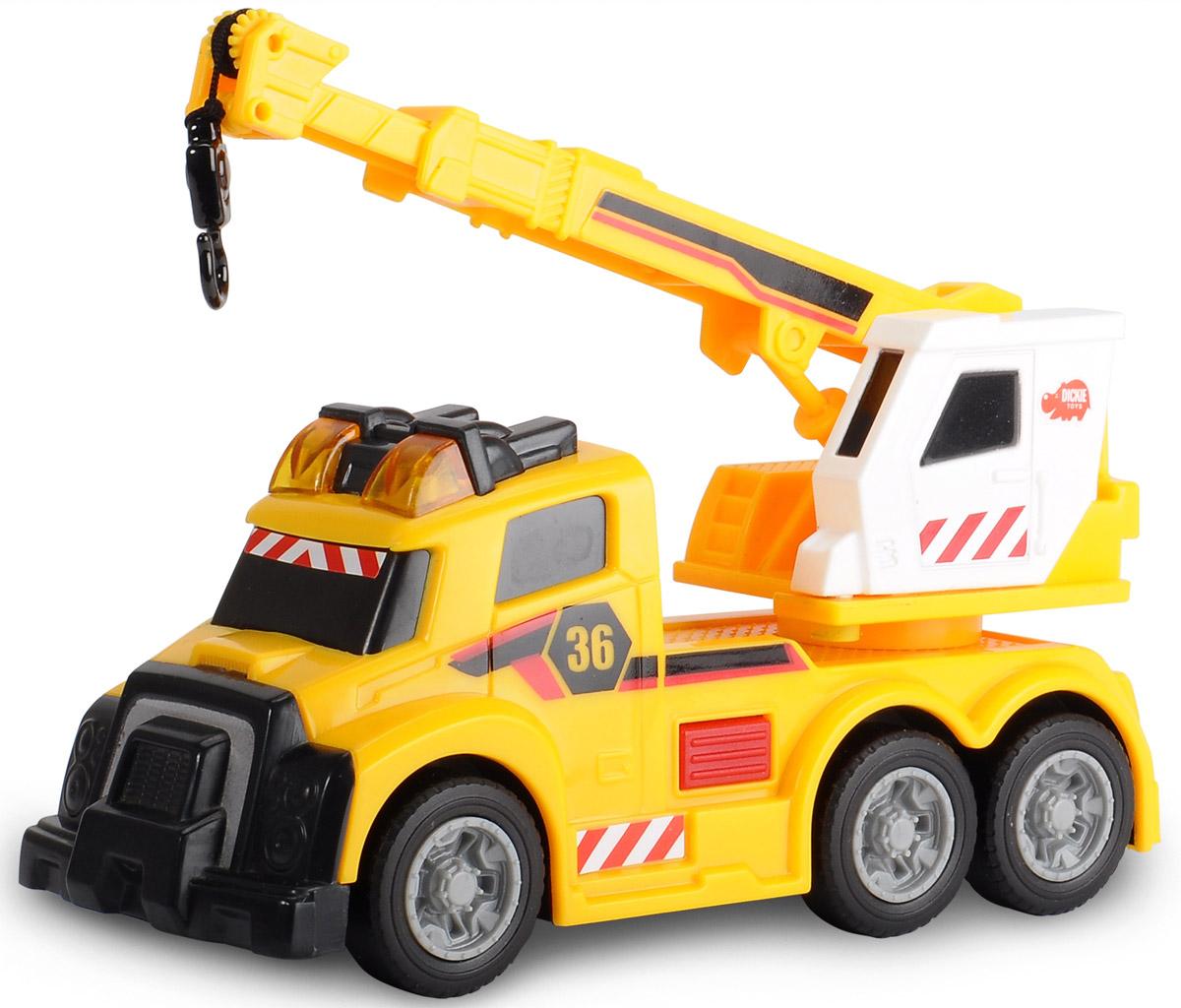 Dickie Toys Автокран цвет желтый dickie toys игровой набор маяк