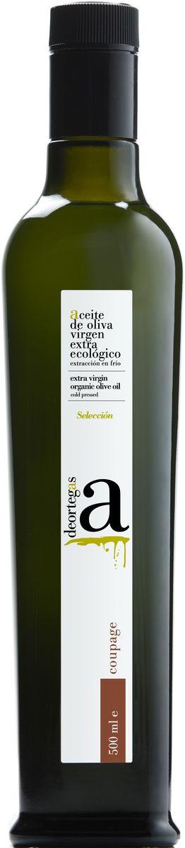 Deortegas Купаж масло оливковое Extra Virgin, 500 млгзш006Деортегас Купаж - нерафинированное оливковое масло первого холодного отжима (Extra Virgin Olive Oil) премиум класса кислотностью 0,1%, которая является лечебной по испанским законам. ЭКОЛОГИЧЕСКИЙ ФЕРМЕРСКИЙ ПРОДУКТ из оливок сорта Пикуаль и Корникабра раннего сбора урожая. Диетический продукт! Масло золотисто-зеленого цвета, имеет неповторимый и утонченный аромат зеленого томата, артишока, миндаля, яблока с нотками свежей травы. Удивительный сбалансированный вкус. Производится на семейной ферме Almazara Deortegas в регионе Мурсия в Испании, где оливковые рощи культивируют на высоте 600-800 метров над уровнем моря. Семейная пара - Рафа и Марсело уже более 15 лет занимаются выращиваем ЭКО и БИО продуктов.