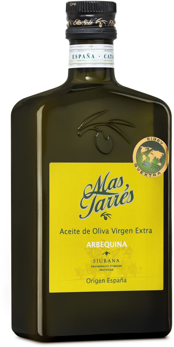 Olis Sole Оливковое масло Extra Virgin Mas Tarres, 500 мл601813032460004Олис Соле Мас Тарес - нерафинированное оливковое масло первого холодного отжима (Extra Virgin Olive Oil) премиум класса кислотностью 0,2%, которая является лечебной по испанским законам. ЭКОЛОГИЧЕСКИЙ ФЕРМЕРСКИЙ ПРОДУКТ из оливок сорта Арбекина раннего сбора урожая. Диетический продукт!Сорт Арбекина берёт своё название от местечка Арбека. Сейчас его главная область культивирования – Каталония. Выращиваются они в экологически безопасной зоне Siurana. Оливки этого сорта маленькие и круглые, с красноватым оттенком и ярко выраженным плодовым привкусом. В ходе культивации этот сорт является самым ближайшим к дикой оливе. Арбекина дает низкую степень урожая - 20 и 22 %. Используется главным образом из за его качества, несмотря на относительную низкую стабильность в урожае. Органолептические особенности настолько превосходны, что очень ценятся во всем мире.Производитель традиционно осуществляет сбор урожая, когда плоды только подступились к своей средней степени зрелости. Плод уже сочный, но еще не достаточно зрелый. Это дает полученному маслу незабываемый аромат и неповторимый вкус.Масло, полученное из этих оливок, считается самым полезным и, соответственно, самым дорогим. Производится старейшей испанской компанией OLIS SOLE.S.L. (марки Olis Sole и MasTarres) в Каталонии в Mont-roing del Camp. Компанию основала в 1944 году великая бабушка семьи Sole - мадам Мария Яват. Благодаря ей были разработаны фирменные стандарты качества и секретные технологии. С тех пор семья традиционно производит оливковые масла Экстра Вирджен самой высшей категории. Они ценятся во всем мире, имеют блестящую репутацию среди экспертов и удовлетворяют самым высоким требованиям гурманов всего мира.