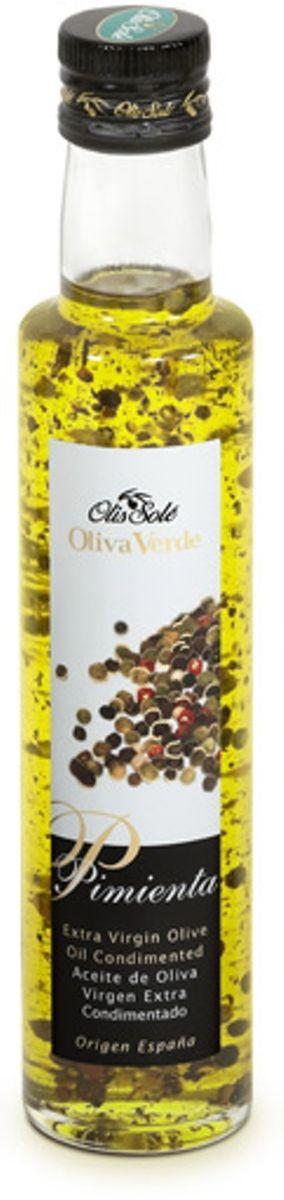 Olis Sole Оливковое масло Extra Virgin с 4 видами перцев, 250 мл11194Олис соле Оливковое масло с 4 видами перцев - нерафинированное оливковое масло первого холодного отжима (Extra Virgin Olive Oil) кислотностью 0,2%, которая является лечебной по испанским законам. ЭКОЛОГИЧЕСКИЙ ФЕРМЕРСКИЙ ПРОДУКТ из оливок сорта Арбекина раннего сбора урожая. Диетический продукт!Производится старейшей испанской компанией OLIS SOLE.S.L. (марки Olis Sole и MasTarres) в Каталонии в Mont-roing del Camp. Компанию основала в 1944 году великая бабушка семьи Sole - мадам Мария Яват. Благодаря ей были разработаны фирменные стандарты качества и секретные технологии. С тех пор семья традиционно производит оливковые масла Экстра Вирджен самой высшей категории. Они ценятся во всем мире, имеют блестящую репутацию среди экспертов и удовлетворяют самым высоким требованиям гурманов всего мира.