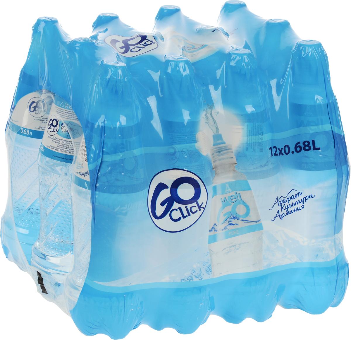 Well Go вода негазированная минеральная столовая природная, 12 штук по 0,68 л0120710Для тех, кто ведет активный образ жизни необходима свобода в движениях. Большим пальцем одной руки Click... вы открываете бутылку на ходу и наслаждаетесь Well GO. Эффект: употребление воды Well GO поможет привести в норму водно-минеральный обмен организма после спортивных тренировок, стимулирует систему пищеварения, благодаря сбалансированному природному минеральному составу.Разлито на территории минеральных источников Арарат скважина №В3, Армения.Уважаемые клиенты! Обращаем ваше внимание, что перечень типичного химического состава продукта представлен на дополнительном изображении.