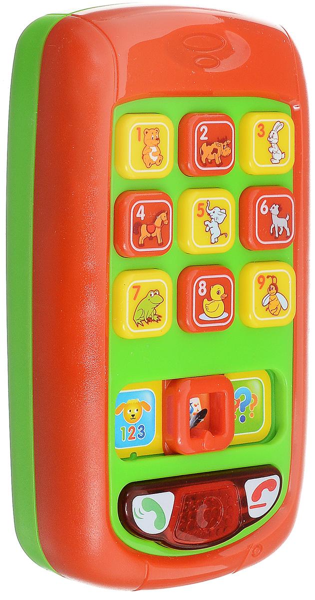 Умка Развивающая игрушка Обучающий телефон цвет красный зеленый умка развивающая игрушка фотоаппарат чебурашки