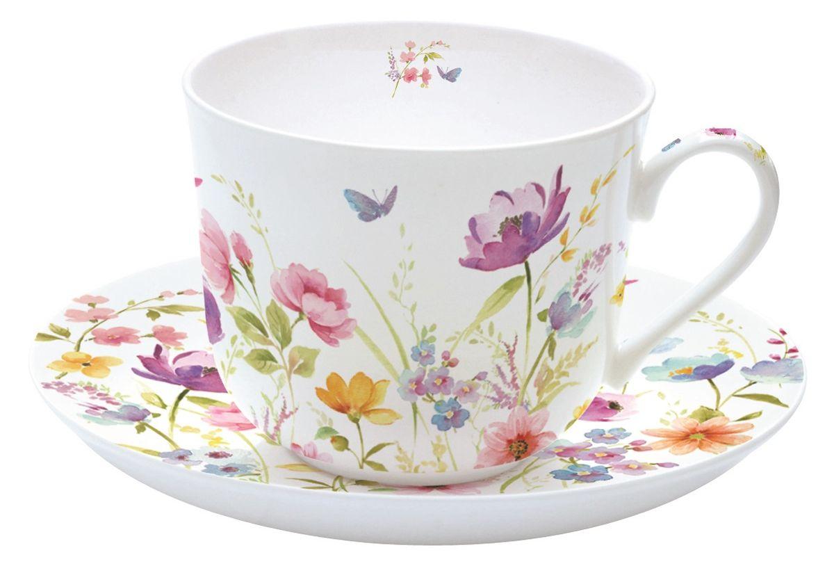 """Чайная пара Nuova R2S """"Полевые цветы"""", 2 предмета"""