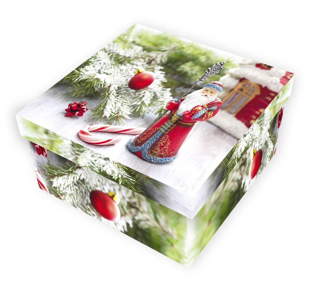 Коробка подарочная Proffi Home Дед Мороз, 12 х 22 х 22 смK100Большие картонные коробкиProffi Home Дед Мороз, идеально подходят для упаковки объемных подарков.Коробка изготовлена из плотного цветного картона.