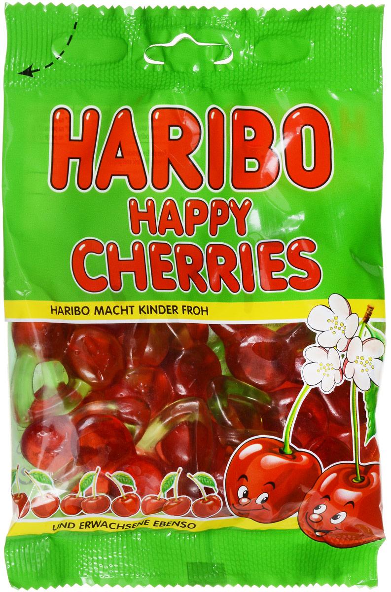 Haribo Happy Cherries жевательный мармелад, 100 г мармелад haribo жевательный веселая кола 140 г