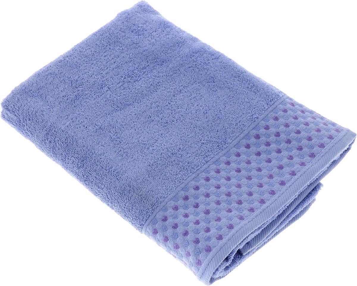 Полотенце Tete-a-Tete Сердечки, цвет: сиреневый, 50 х 90 см68/5/3Махровое полотенце Tete-a-Tete Сердечки, изготовленное из натурального хлопка, подарит массу положительных эмоций и приятных ощущений. Полотенце отличается нежностью и мягкостью материала, утонченным дизайном и превосходным качеством. Линейка Сердечки декорирована бордюром с сердечками и горошком, полотенце выполнено в пастельном тоне.Полотенце прекрасно впитывает влагу, быстро сохнет и не теряет своих свойств после многократных стирок. Махровое полотенце Tete-a-Tete Сердечки станет прекрасным дополнением в дизайне ванной комнаты. Полотенце, упакованное в красивую коробку, может послужить отличной идеей подарка.