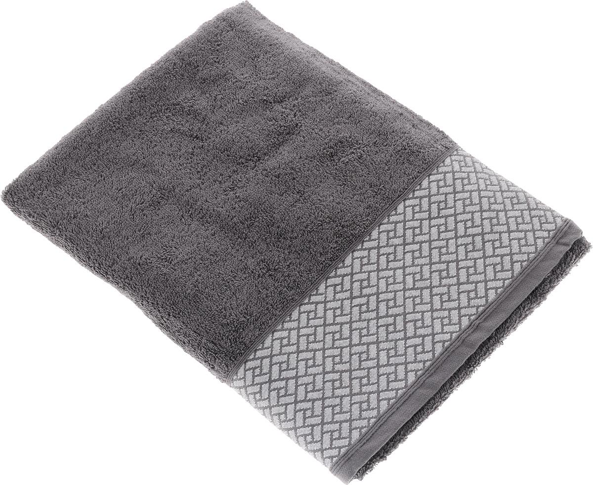 Полотенце Tete-a-Tete Лабиринт, цвет: серый, 70 х 140 см. УП-01068/5/1Махровое полотенце Tete-a-Tete Лабиринт, изготовленное из натурального хлопка, подарит массу положительных эмоций и приятных ощущений. Полотенце отличается нежностью и мягкостью материала, утонченным дизайном и превосходным качеством. Данный дизайн был разработан, как мужская линейка, - строгие насыщенные цвета и геометрический рисунок на бордюре.Полотенце прекрасно впитывает влагу, быстро сохнет и не теряет своих свойств после многократных стирок. Махровое полотенце Tete-a-Tete Лабиринт станет прекрасным дополнением в дизайне ванной комнаты.