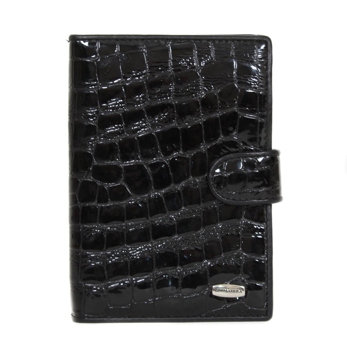 Обложка для документов женская Leighton, цвет: черный. 0005084923/0121/219Женская обложка для документов Leighton выполнена из натуральной кожи. Модель очень удобная и прочная. Закрывается на хлястик с кнопкой.
