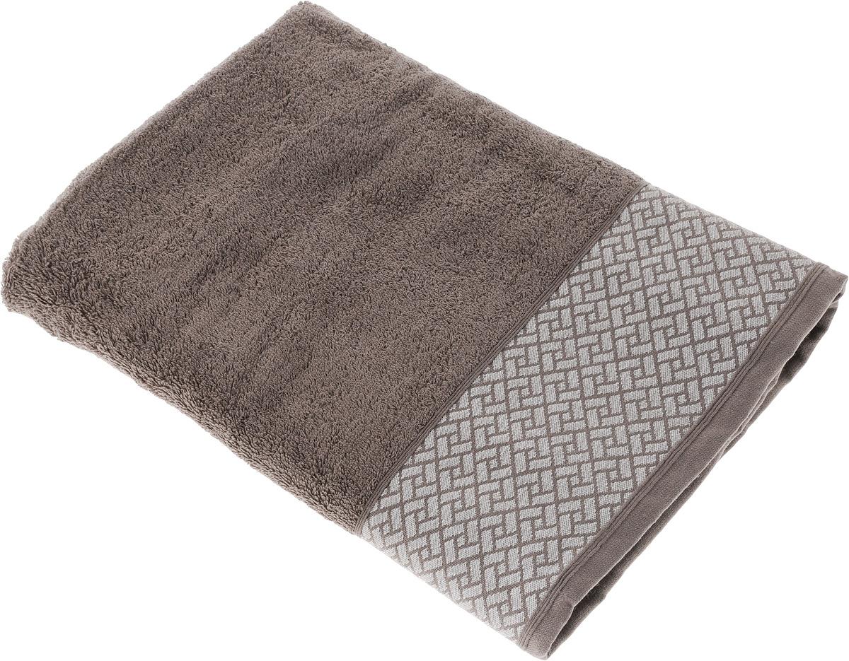 Полотенце Tete-a-Tete Лабиринт, цвет: кофе, 50 х 90 см. УП-0091004900000360Махровое полотенце Tete-a-Tete Лабиринт, изготовленное из натурального хлопка, подарит массу положительных эмоций и приятных ощущений. Полотенце отличается нежностью и мягкостью материала, утонченным дизайном и превосходным качеством. Данный дизайн был разработан, как мужская линейка, - строгие насыщенные цвета и геометрический рисунок на бордюре.Полотенце прекрасно впитывает влагу, быстро сохнет и не теряет своих свойств после многократных стирок. Махровое полотенце Tete-a-Tete Лабиринт станет прекрасным дополнением в дизайне ванной комнаты.