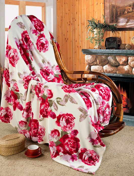 Покрывало Guten Morgen Розы, 200 х 220 смES-412Мягкое покрывало Guten Morgen, изготовленное из флиса (100% полиэстера), может стать не только красивым и практичным аксессуаром для интерьера вашей спальни, но и олицетворением уюта и теплоты вашего дома.Как приятно завернуться в теплое покрывало с чашечкой ароматного чая и скоротать за хорошей книгой долгий зимний вечер.