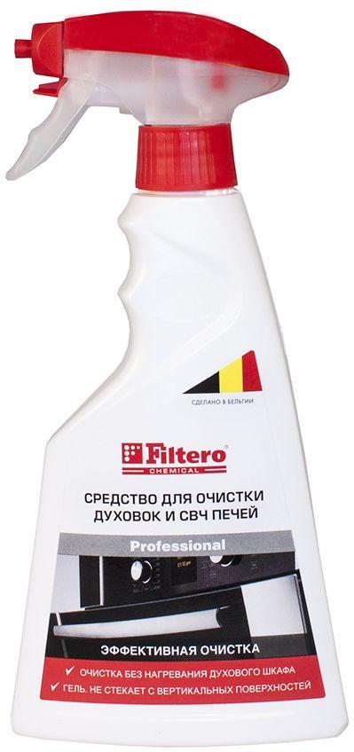 Filtero средство для чистки духовок и СВЧ-печей, 500 млGC204/30Средство Filtero предназначено для очистки духовок, грилей, СВЧ, вытяжек, противней, форм для выпечки, кастрюль, сковородок. Благодаря густой гелеобразной консистенции, держится на вертикальных поверхностях не растекаясь, позволяя средству действовать в течение длительного времени для достижения максимального эффекта.