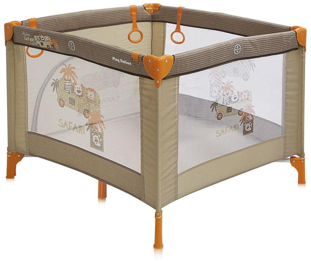 Lorelli Манеж Play Station цвет бежевый74-0120Детский манеж Bertoni Play Station выполнен в современном стиле, компактен в сложенном виде. Отсутствуют острые углы, ткань приятная на ощупь.Особенности:Квадратный просторный манежТравмобезопасная конструкция Центральная ножка для обеспечения безопасностиЛегко складывается в компактную, удобную для переноски сумку Яркие, прочные, легкомоющиеся тканевые части Специальные кольца на боковинках для помощи малышу научиться вставатьСетчатые вставки в боковинах для лучшей вентиляции и обзораОтстегивающийся боковой лаз, чтобы малыш мог сам забираться в манеж и выбираться из него