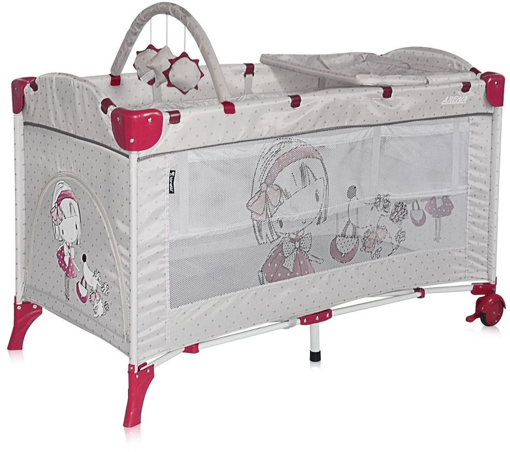 Lorelli Манеж-кроватка Arena 2 Plus цвет серый - Детская комната