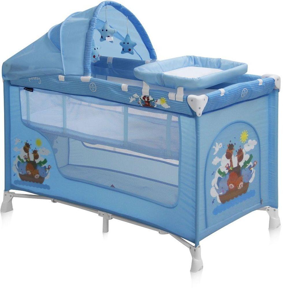 Lorelli Манеж-кроватка Nanny 2 Plus цвет синий