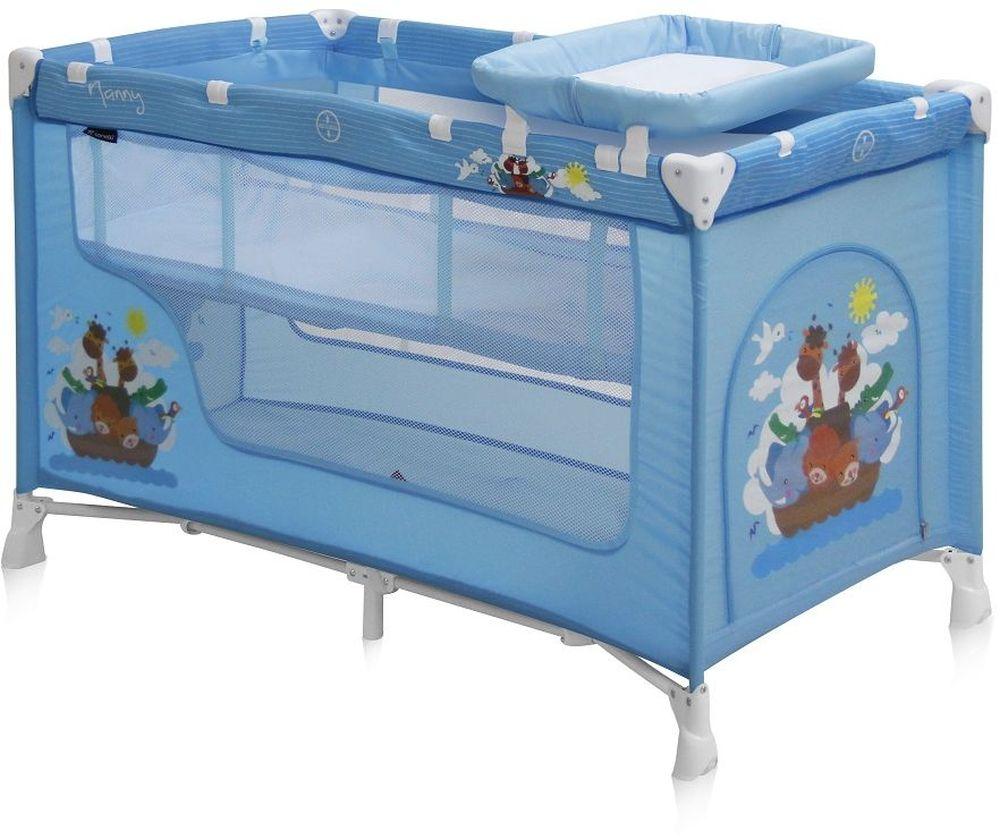 Lorelli Манеж-кроватка Nanny 2 цвет синий - Детская комната