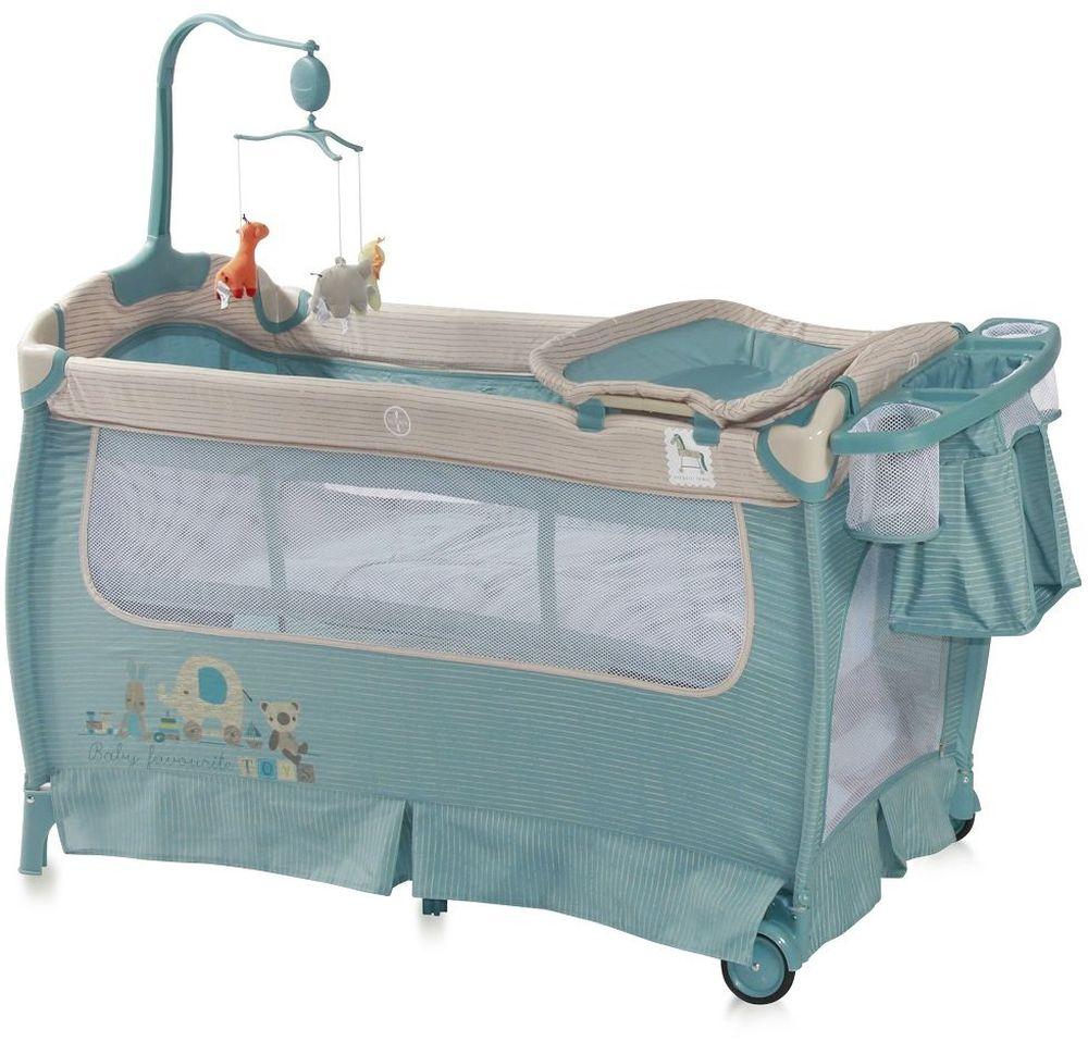 Lorelli Манеж-кроватка SleepNDream цвет синий3800151955832Практичная и компактная модель, которая поможет родителям на время ограничить перемещение малыша по дому и сделает его пребывание абсолютно безопасным. Плюсом модели является два уровня высоты ложа. Первый уровень используется для новорожденных. Когда ребенок подрастет, дно можно опустить на второй уровень и использовать манеж не опасаясь, что ребенок вывалится из него.Особенности:Удобный пеленальный столикСбоку отверстие на молнииКолесики для перемещения по полуКомпактное складываниеМузыкальная карусель с подвесными игрушкамиПодставка для аксессуаров и мелочей