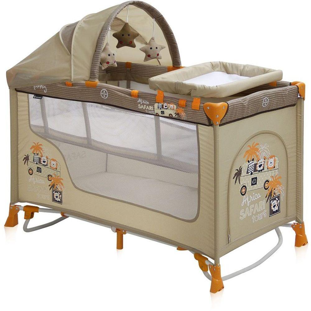 Lorelli Манеж-кроватка Nanny 2 Plus Rocker цвет бежевый - Детская комната