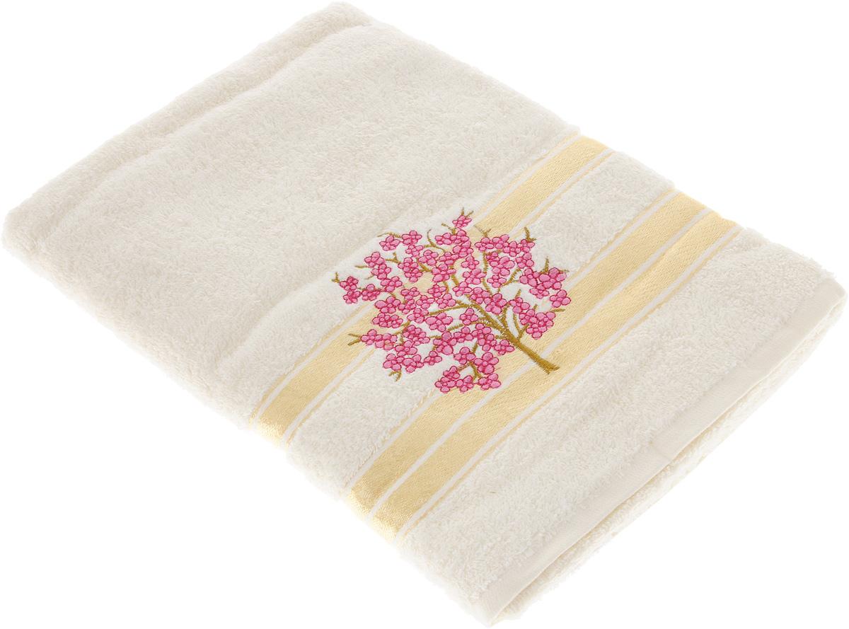 Полотенце Tete-a-Tete Сиреневое дерево, 70 х 140 см. УП-004-02к68/5/2Махровое полотенце Tete-a-Tete Сиреневое дерево, изготовленное из натурального хлопка, подарит массу положительных эмоций и приятных ощущений. Полотенце отличается нежностью и мягкостью материала, утонченным дизайном и превосходным качеством. Изделие декорировано вышивкой в виде ветки сакуры.Полотенце прекрасно впитывает влагу, быстро сохнет и не теряет своих свойств после многократных стирок. Махровое полотенце Tete-a-Tete Сиреневое дерево станет прекрасным дополнением в дизайне ванной комнаты.