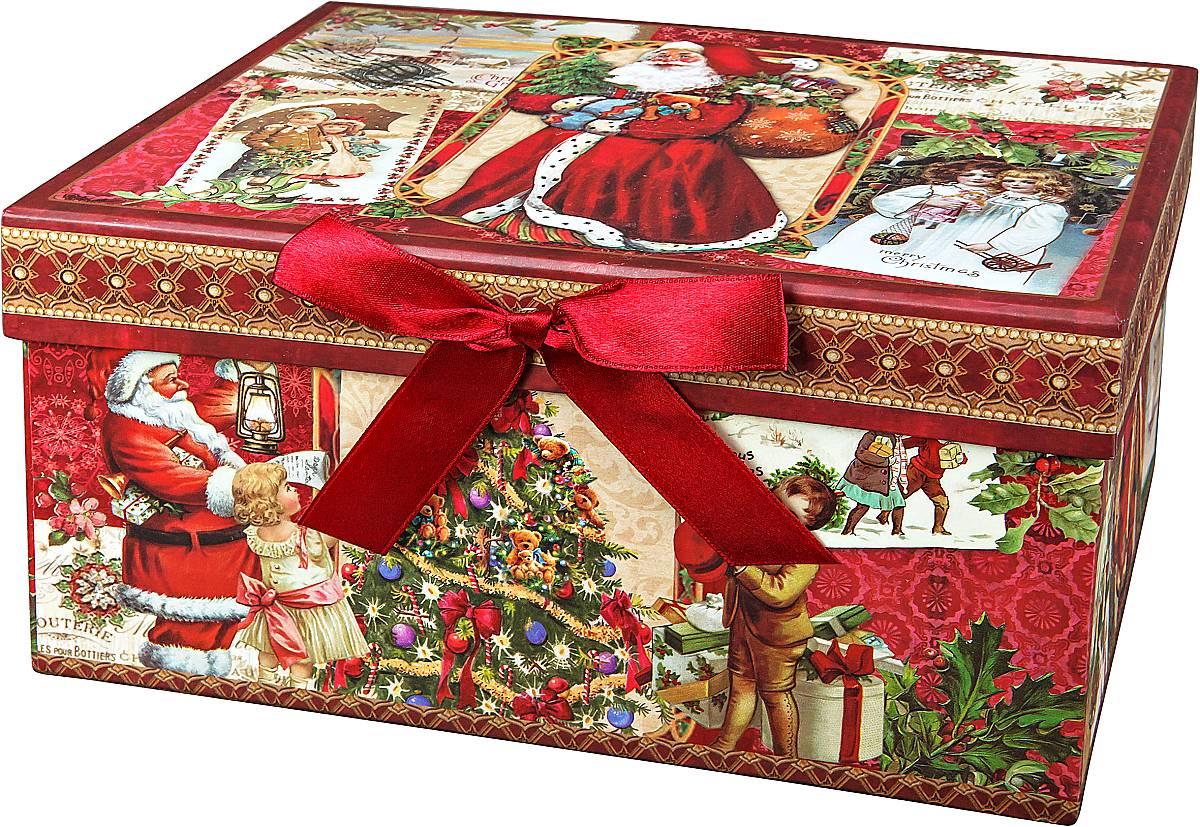 Коробка подарочная новогодняя Mister Christmas Дед Мороз и дети, 23 х 16 х 12 смBAL 128Картонная коробка Mister Christmas Дед Мороз и дети - это один из самых распространенных вариантов упаковки подарков. Любой, даже самый нестандартный подарок упакованный в такую коробку, создаст момент легкой интриги, а плотный картон сохранит содержимое в первоначальном виде. Оригинальный дизайн самой коробки будет долго напоминать владельцу о трогательных моментах получения подарка.