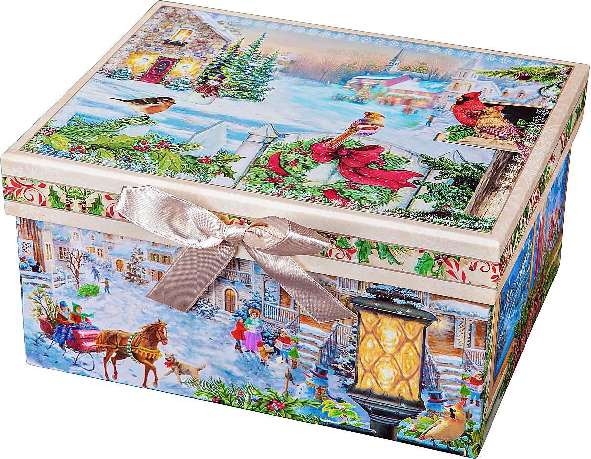 Коробка подарочная Mister Christmas, 23 х 16 х 12 смSS 4041Картонная коробка Mister Christmas - это один из самых распространенных вариантов упаковки подарков. Любой, даже самый нестандартный подарок упакованный в такую коробку, создаст момент легкой интриги, а плотный картон сохранит содержимое в первоначальном виде. Оригинальный дизайн самой коробки будет долго напоминать владельцу о трогательных моментах получения подарка.