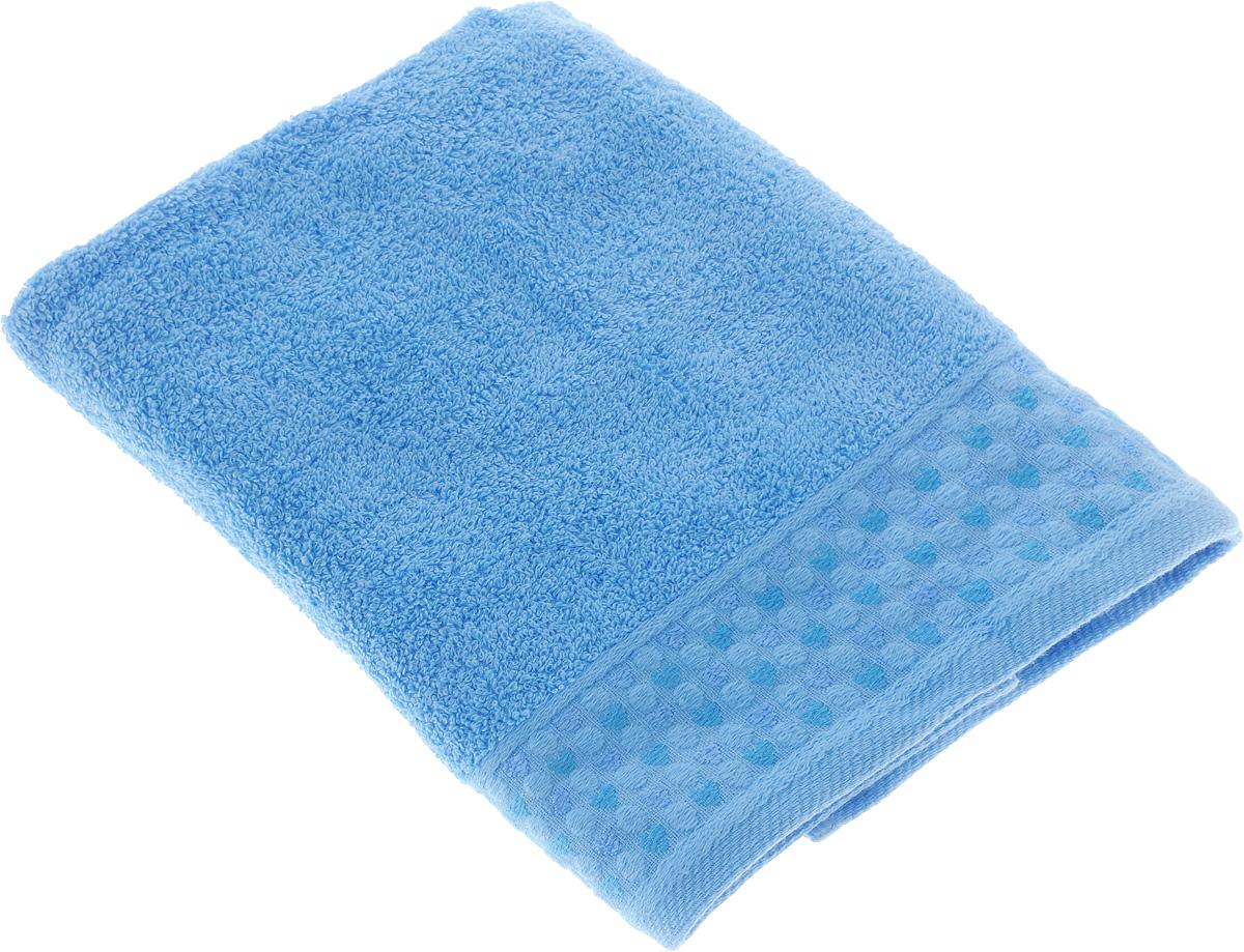 Полотенце Tete-a-Tete Сердечки, цвет: голубой, 70 х 140 см. УП-00868/5/3Махровое полотенце Tete-a-Tete Сердечки, изготовленное из натурального хлопка, подарит массу положительных эмоций и приятных ощущений. Полотенце отличается нежностью и мягкостью материала, утонченным дизайном и превосходным качеством. Линейка Сердечки декорирована бордюром с сердечками и горошком, полотенце выполнено в пастельном тоне.Полотенце прекрасно впитывает влагу, быстро сохнет и не теряет своих свойств после многократных стирок. Махровое полотенце Tete-a-Tete Сердечки станет прекрасным дополнением в дизайне ванной комнаты.