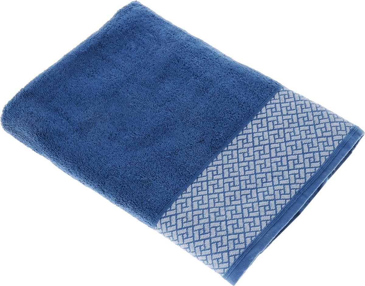 Полотенце Tete-a-Tete Лабиринт, цвет: синий, 70 х 140 см. УП-01068/5/1Махровое полотенце Tete-a-Tete Лабиринт, изготовленное из натурального хлопка, подарит массу положительных эмоций и приятных ощущений. Полотенце отличается нежностью и мягкостью материала, утонченным дизайном и превосходным качеством. Данный дизайн был разработан, как мужская линейка, - строгие насыщенные цвета и геометрический рисунок на бордюре.Полотенце прекрасно впитывает влагу, быстро сохнет и не теряет своих свойств после многократных стирок. Махровое полотенце Tete-a-Tete Лабиринт станет прекрасным дополнением в дизайне ванной комнаты.