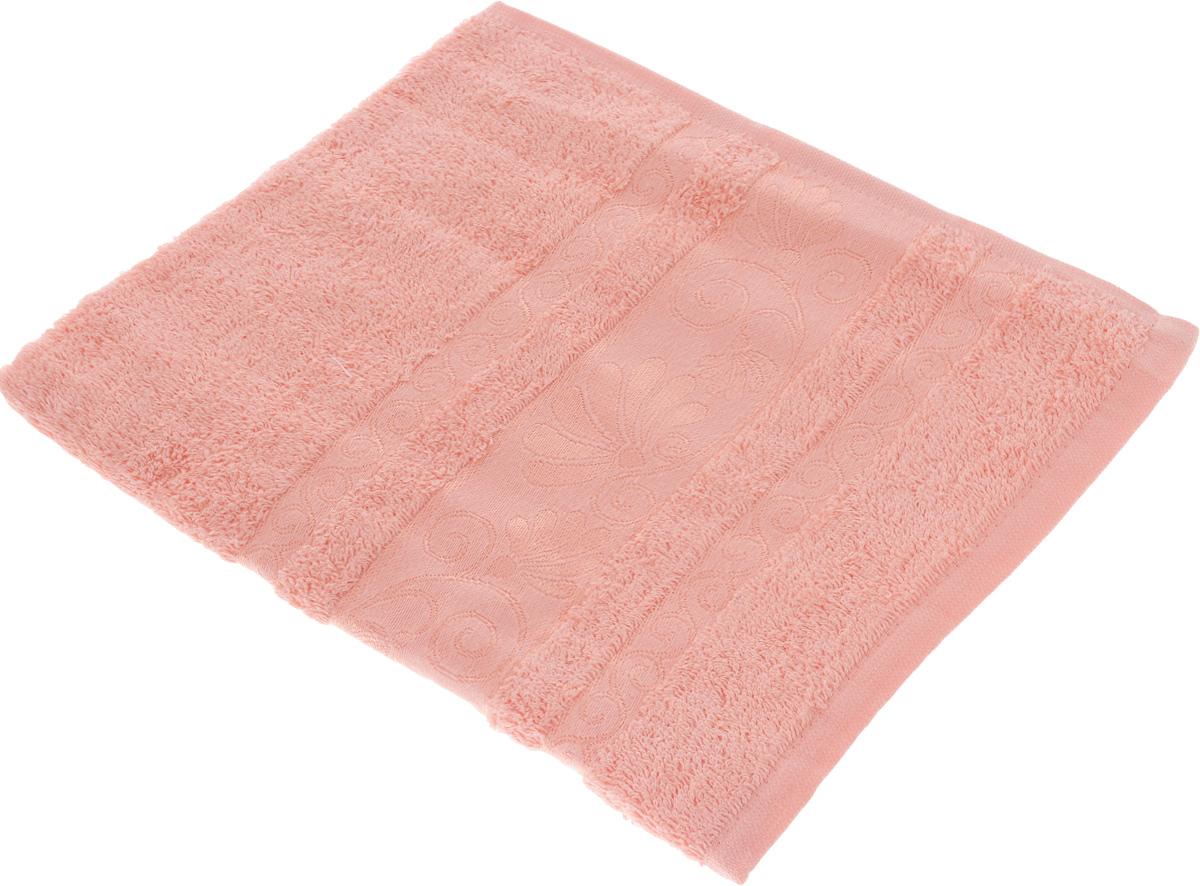 Полотенце Tete-a-Tete Цветы, цвет: светло-розовый, 70 х 140 см. УП-006RSP-202SМахровое полотенце Tete-a-Tete Цветы, изготовленное из натурального хлопка, подарит массу положительных эмоций и приятных ощущений. Полотенце отличается нежностью и мягкостью материала, утонченным дизайном и превосходным качеством. Линейка Цветы создавалась, специально для женщин, она декорирована бордюром с растительным мотивом и выполнена в нежнейших тонах.Полотенце прекрасно впитывает влагу, быстро сохнет и не теряет своих свойств после многократных стирок. Махровое полотенце Tete-a-Tete Цветы станет прекрасным дополнением в дизайне ванной комнаты.