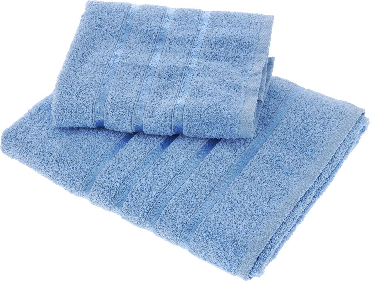 Набор полотенец Tete-a-Tete Ленты, цвет: голубой, 2 шт. УНП-101391602Набор Tete-a-Tete Ленты состоит из двух махровых полотенец, выполненных из натурального 100% хлопка. Бордюр полотенец декорирован лентами. Изделия мягкие, отлично впитывают влагу, быстро сохнут, сохраняют яркость цвета и не теряют форму даже после многократных стирок. Полотенца Tete-a-Tete Ленты очень практичны и неприхотливы в уходе. Они легко впишутся в любой интерьер благодаря своей яркой цветовой гамме.