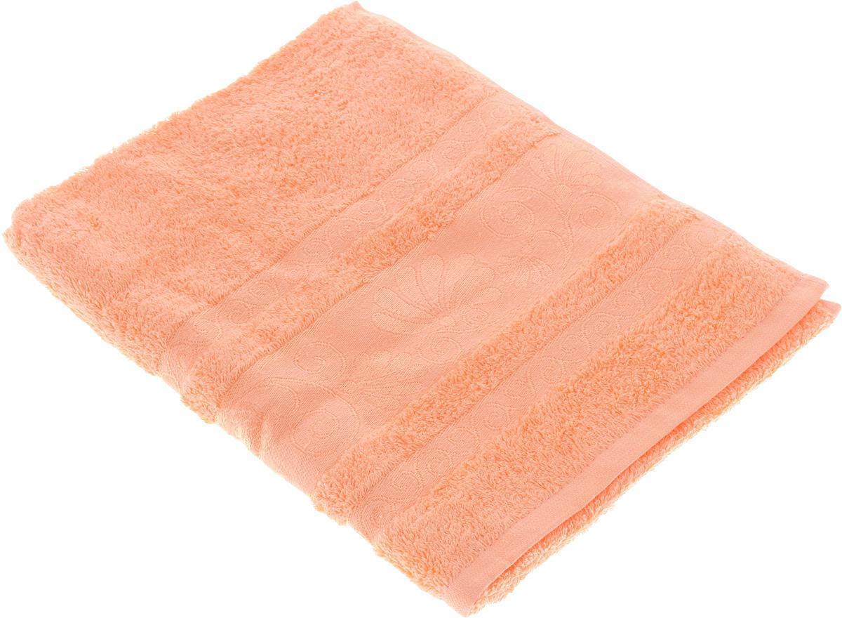 Полотенце Tete-a-Tete Цветы, цвет: персиковый, 50 х 90 см. УП-00512727Махровое полотенце Tete-a-Tete Цветы, изготовленное из натурального хлопка, подарит массу положительных эмоций и приятных ощущений. Полотенце отличается нежностью и мягкостью материала, утонченным дизайном и превосходным качеством. Линейка Цветы создавалась, специально для женщин, она декорирована бордюром с растительным мотивом и выполнена в нежнейших тонах.Полотенце прекрасно впитывает влагу, быстро сохнет и не теряет своих свойств после многократных стирок. Махровое полотенце Tete-a-Tete Цветы станет прекрасным дополнением в дизайне ванной комнаты.