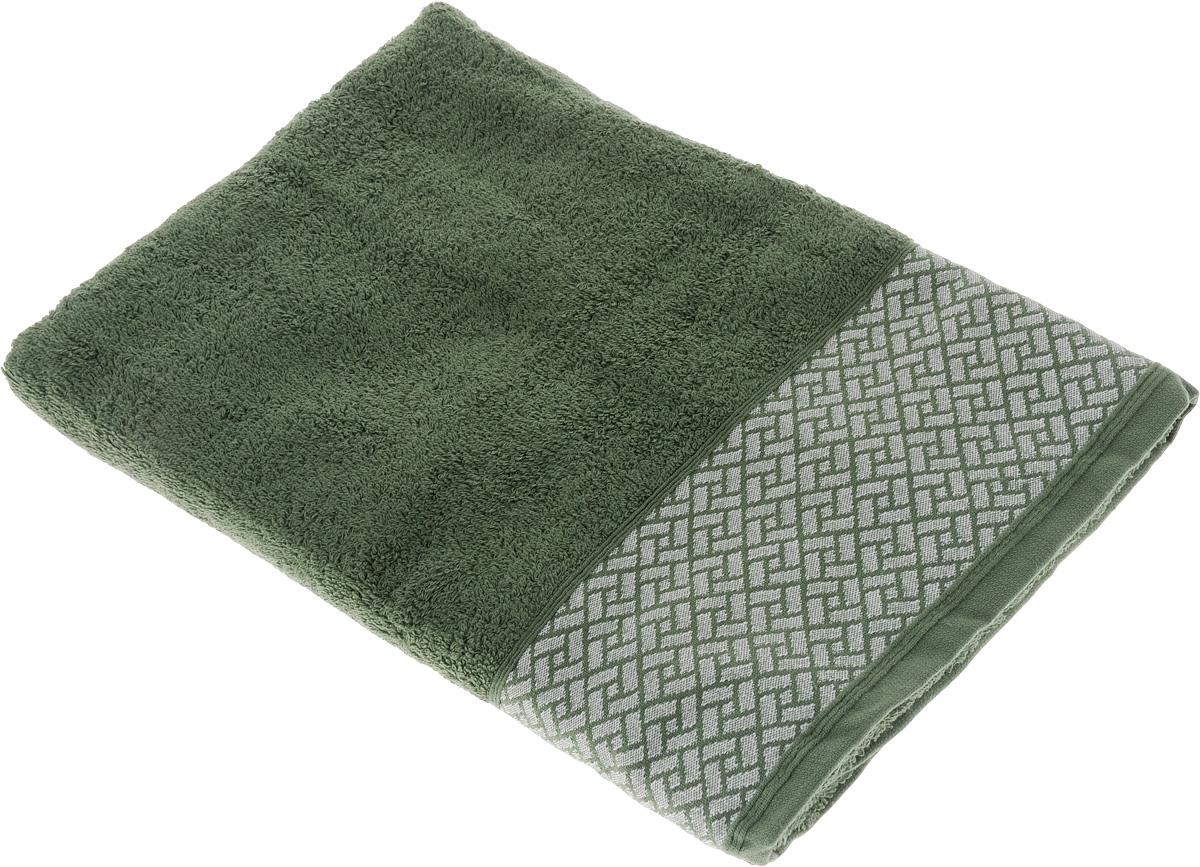 Полотенце Tete-a-Tete Лабиринт, цвет: зеленый, 70 х 140 см. УП-0101004900000360Махровое полотенце Tete-a-Tete Лабиринт, изготовленное из натурального хлопка, подарит массу положительных эмоций и приятных ощущений. Полотенце отличается нежностью и мягкостью материала, утонченным дизайном и превосходным качеством. Данный дизайн был разработан, как мужская линейка, - строгие насыщенные цвета и геометрический рисунок на бордюре.Полотенце прекрасно впитывает влагу, быстро сохнет и не теряет своих свойств после многократных стирок. Махровое полотенце Tete-a-Tete Лабиринт станет прекрасным дополнением в дизайне ванной комнаты.