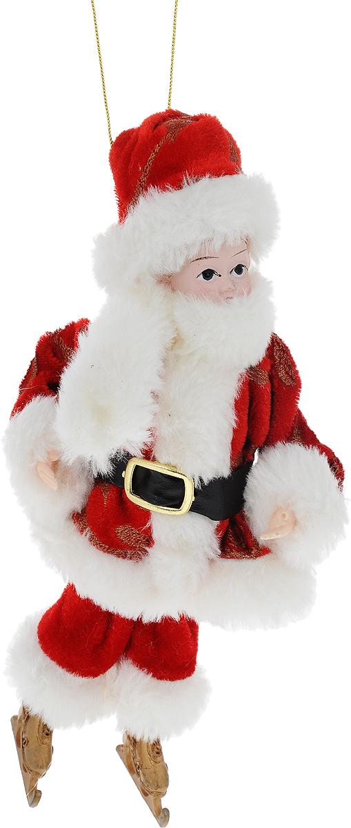 Украшение новогоднее подвесное Win Max Ангел, высота 20 смJUM 14315Новогоднее подвесное украшение Win Max Ангел прекрасно подойдет для праздничного декора вашего дома. Изделие выполнено из высококачественных материалов в виде мальчика, который одет в костюм Деда Мороза. С помощью специальной петельки украшение можно подвесить в любом понравившемся вам месте. Новогодние украшения несут в себе волшебство и красоту праздника. Они помогут вам украсить дом к предстоящим праздникам и оживить интерьер по вашему вкусу. Создайте в доме атмосферу тепла, веселья и радости, украшая его всей семьей.