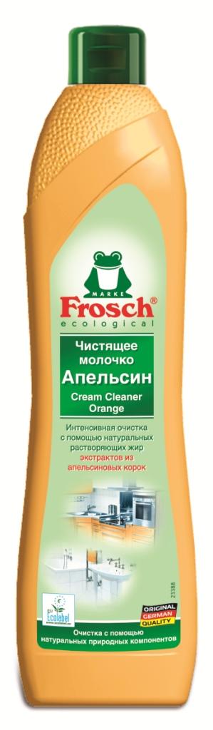 Чистящее молочко Frosch, с ароматом апельсина, 500 мл787502Чистящее молочко Frosch удаляет любые загрязнения, такие как жир, известковый налет и остатки мыла. Молочко содержит натуральную мраморную пыльцу, которая совершенно не царапает такие изысканные поверхности, которые не переносят абразива. А также содержит вещества из апельсиновых корок, которые эффективно растворяют жир. Средство подходит для очистки керамики, эмали, нержавеющей стали и стеклянных поверхностей, а также варочных поверхностей электроплит. Не использовать на акриловых поверхностях. Не предназначено для очистки больших поверхностей. Средство обладает свежим ароматом апельсина.Торговая марка Frosch специализируется на выпуске экологически чистой бытовой химии. Для изготовления своей продукции Froschиспользует натуральные природные компоненты. Ассортимент содержит все необходимое для бережного ухода за домом и вещами. Продукция торговой марки Frosch эффективно удаляет загрязнения, оберегает кожу рук и безопасна для окружающей среды. Характеристики: Объем: 500 мл. Производитель:Германия. Товар сертифицирован.
