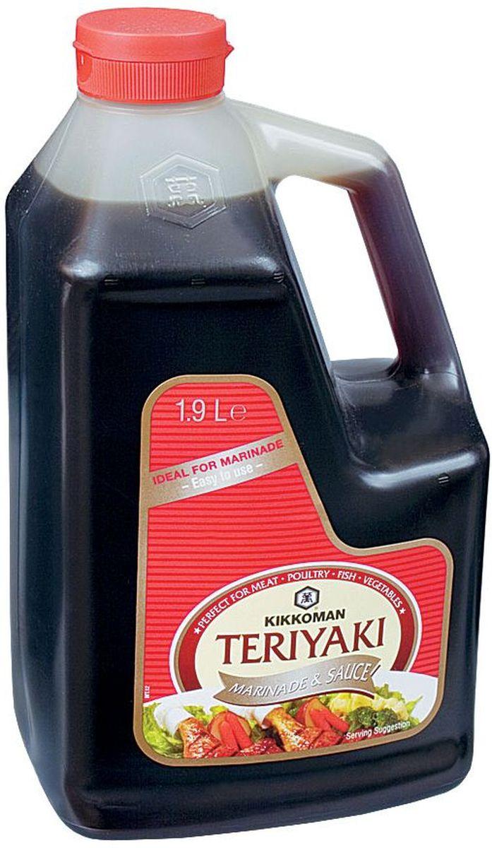 Kikkoman соус-маринад Teriyaki, 1,9 л24237Классический продукт бренда Kikkoman (Киккоман) - натуральный соевый соус, который превосходно подходит как ингредиент, и как приправа для множества готовых блюд. Он идеально сочетается не только с деликатесами азиатской кухни, но и, например, со спагетти, американскими бюргерами или салатами.Соевый соус Kikkoman (Киккоман) изготавливается традиционным, классическим способом естественного брожения из сочетания 4 натуральных ингредиентов: соевых бобов, воды, пшеницы и соли. Натурально сваренный соевый соус Kikkoman прозрачный, имеет красновато-коричневый цвет и незабываемый, легко узнаваемый приятный вкус.