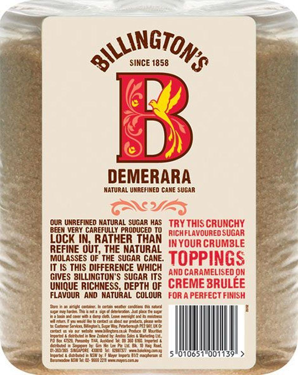 Billingtons Demerara сахар нерафинированный, 3 кг28117Высококачественный сахар Billington's производят из элитных сортов тростника, который подвергается минимальной технической обработке (не пропускают через костяные фильтры), что позволяет сохранить природные минералы, придающие продукту характерный вкус и запах. Нерафинированный коричневый тростниковый сахар содержит в своем составе кальций, железо, магний, фосфор, калий и даже протеины, которые полностью отсутствуют в обычном сахаре.