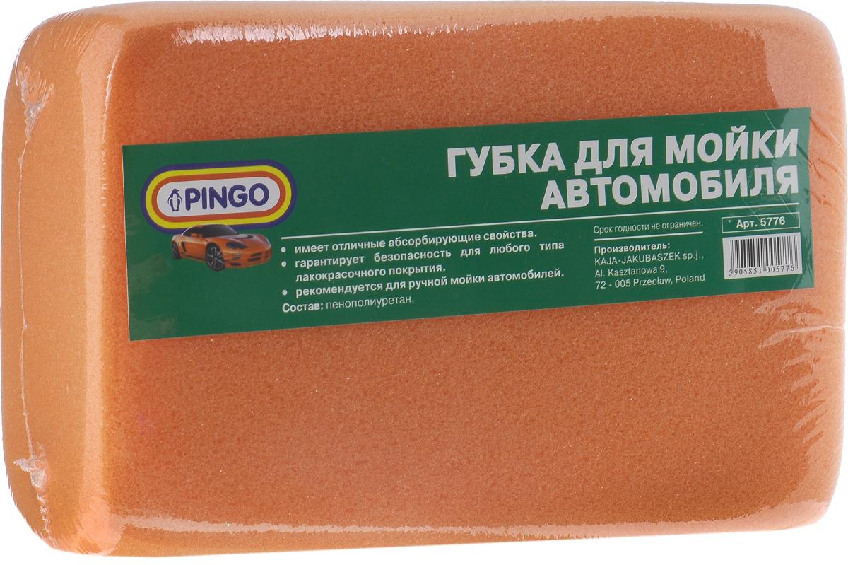Губка для мытья автомобиля Pingo, цвет: оранжевый, 18 х 12 х 6 см55304Губка для мытья автомобиля Pingo, изготовленная из пенополиуретана, предназначена для ручной мойки автомобиля. Она обладает отличными абсорбирующими свойствами и гарантирует безопасность для любого типа лакокрасочных покрытий. При использовании с моющими средствами изделие создает обильную пену.