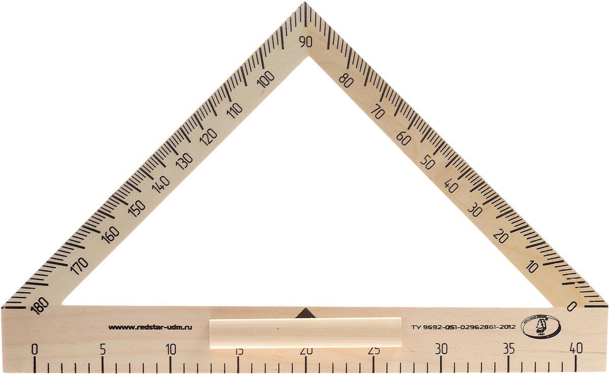 Красная звезда Транспортир классныйС176Транспортир классный Красная звезда изготовлен из твердолиственных пород древесины. Имеет лакированную поверхность.Транспортир - незаменимый помощник учителя геометрии. Изделие имеет ручку для удобства черчения на вертикальной или наклонной школьной доске.Цифры нанесены крупным шрифтом и не вызывают затруднений при чтении.