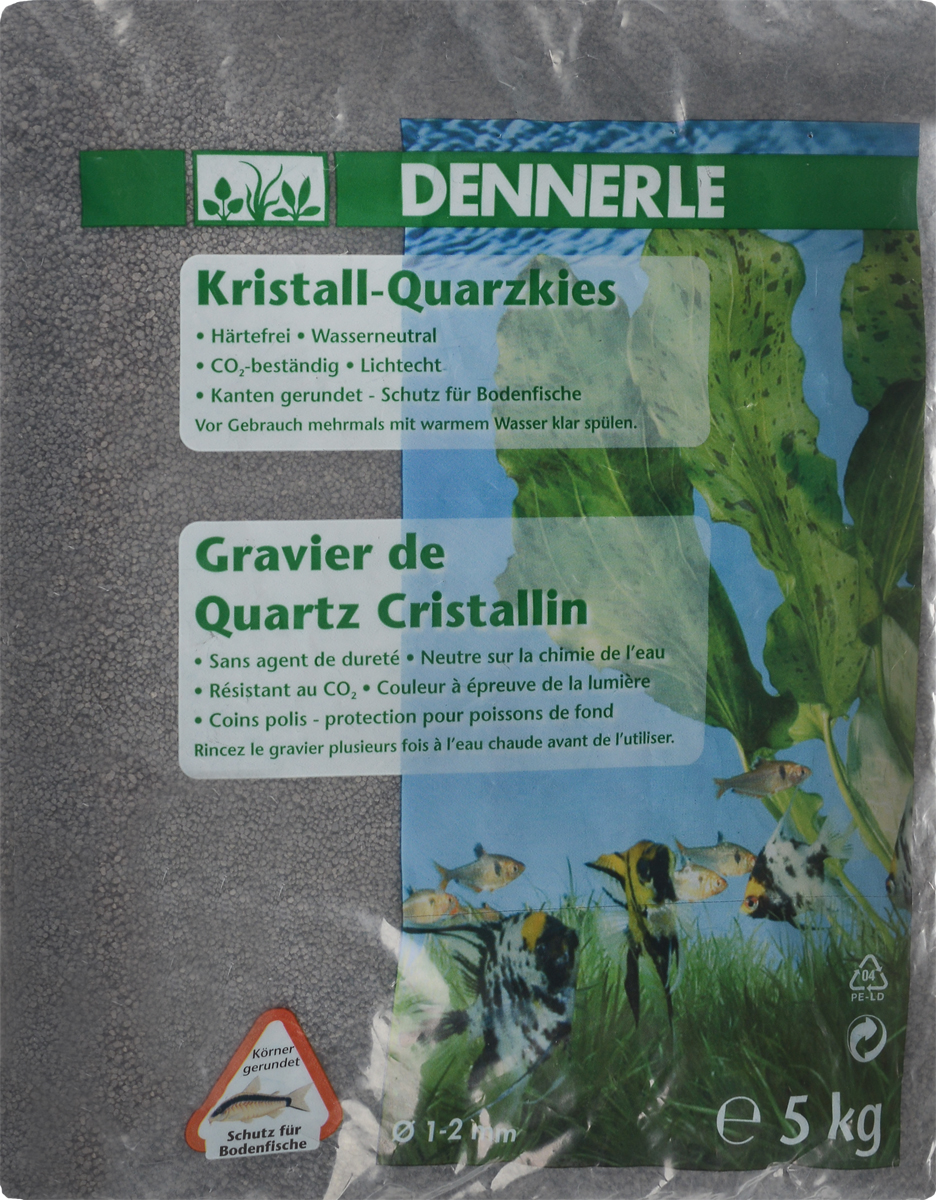 Грунт для аквариума Dennerle Kristall-Quarz, натуральный, цвет: темно-серый, 1-2 мм, 5 кг0120710Натуральный грунт Dennerle Kristall-Quarz предназначен специально для оформления аквариумов. Изделие готово к применению.Натуральный гравий имеет округлую форму зерна, поэтому он безопасен для донных рыб.Гравий является светостойким, он устойчив к CO2, нейтрален к воде..Грунт  Dennerle  порадует начинающих любителей природы и самых придирчивых дизайнеров, стремящихся к созданию нового, оригинального. Такая декорация придутся по вкусу и обитателям аквариумов и террариумов, которые ещё больше приблизятся к природной среде обитания.Фракция: 1-2 мм.Объем: 5 кг.