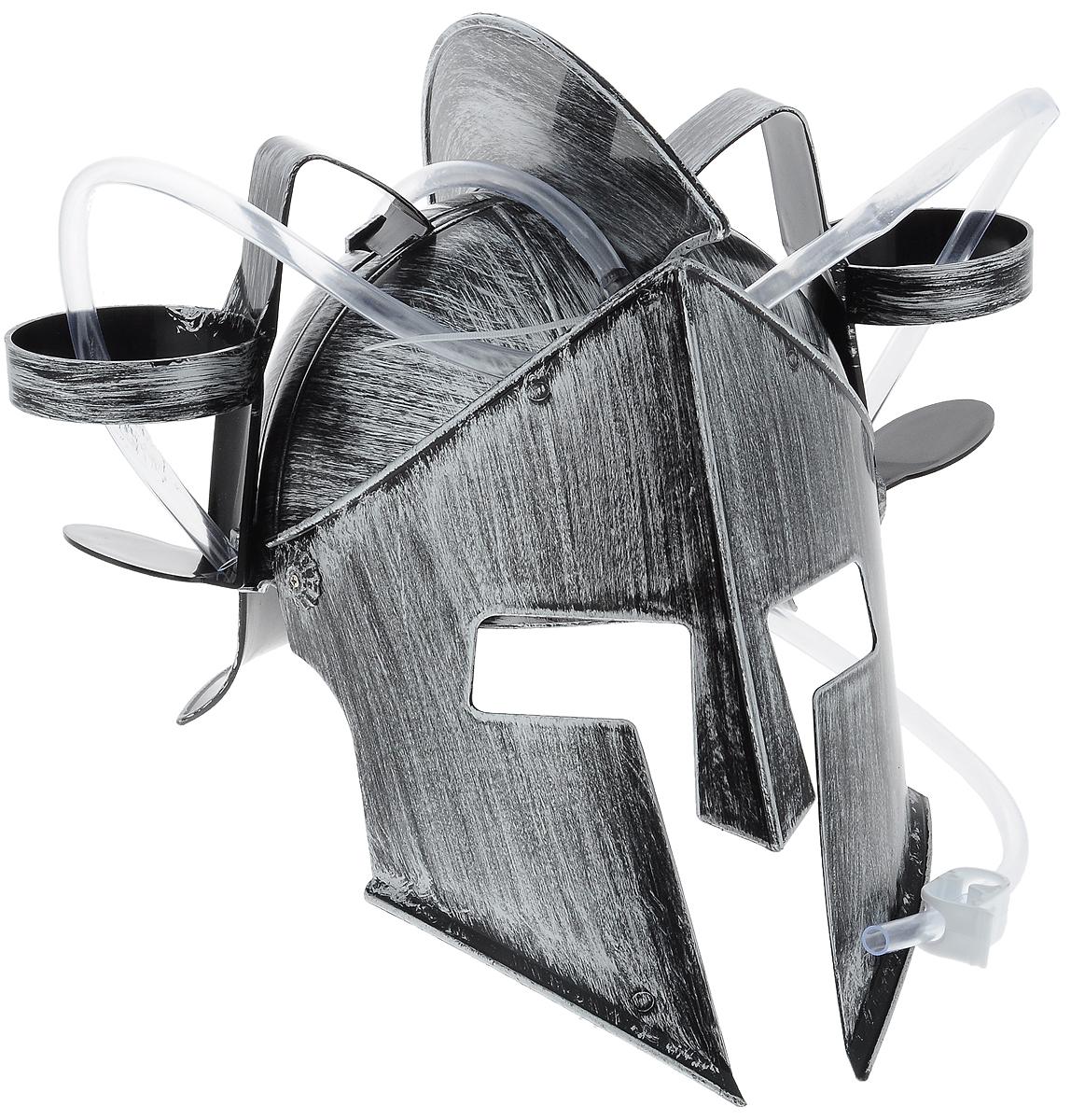 Каска Эврика Рыцарь, с подставками под банки74-0120Мужчина, умеющий оставаться настоящим рыцарем, даже выпивая, определенно заслуживает женского внимания! Чтобы совместить приятное с полезным, былпридуман специальный шлем Эврика Рыцарь. Каска выполнена из пластика и оснащена двумя держателями для банок/бутылок и двумя соединительными трубочками, благодаря которым можно смешивать два различных напитка в виде коктейля. Такая каска станет отличным решением для карнавала, дружеской вечеринки или в качестве амуниции болельщика на стадионе Загрузи голову и освободи руки! Рекомендуется использовать для употребления полезных напитков. Диаметр подставки для банки: 7 см.