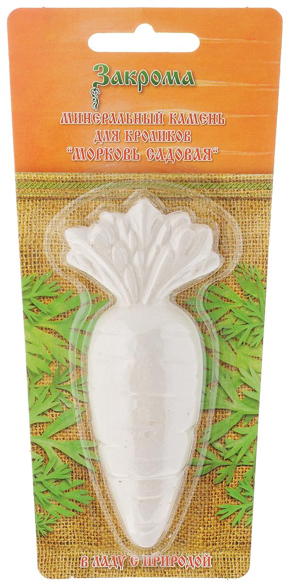 Минеральный камень Закрома Морковь садовая для кроликов, 20 г0120710Минеральный камень Закрома Морковь садовая - натуральная точилка, которая создана специально для растущих зубов кроликов. В состав входят только органические компоненты, содержащие:- Магний - важен для метаболизма кальция и витамина С;- Кальций - макроэлемент, участвующий в формировании костной ткани, процессе свертывания крови, необходим для поддержания стабильной сердечной деятельности, осуществления процессов передачи нервных импульсов;- Фосфор - для крепких костей и эмали зубов;- Натрий - поддержание водно-солевого баланса.Товар сертифицирован.