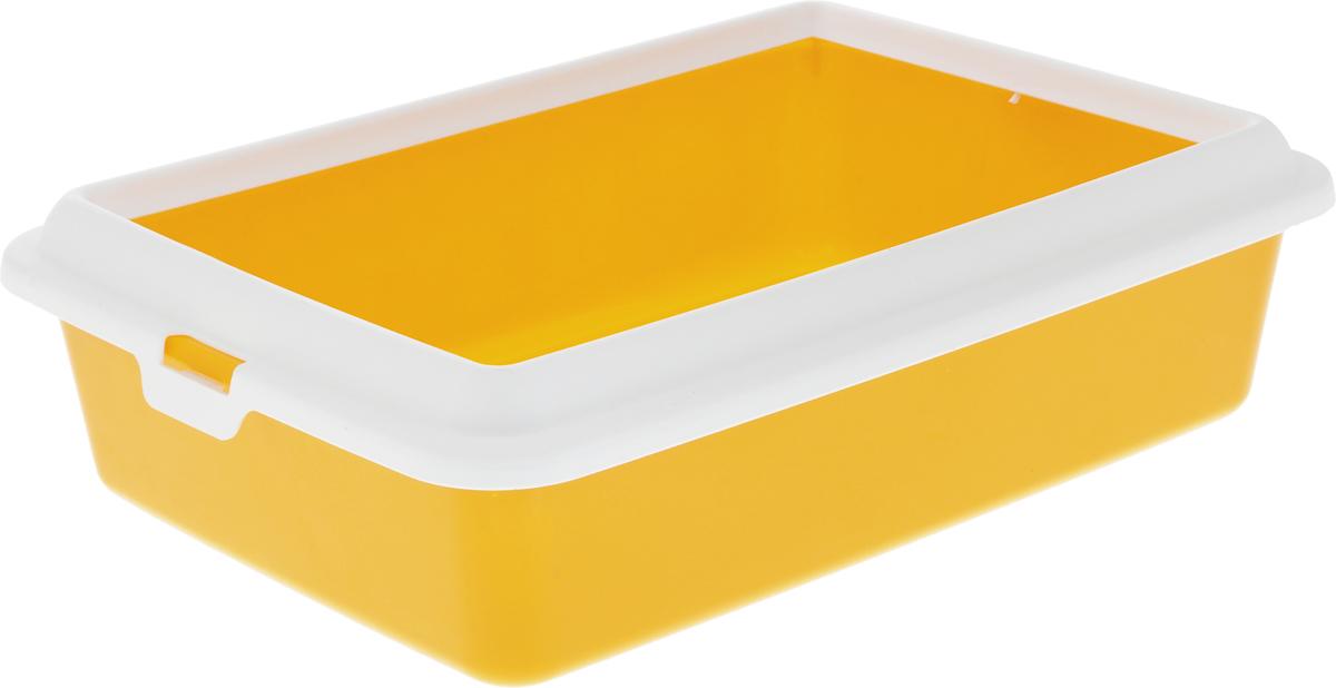 Туалет-лоток для животных MPS Hydra Mini, с рамкой, цвет: желтый, 43 х 31 х 12 см3845Туалет-лоток для животных MPS Hydra Mini выполнен из прочного пластика. Высокие бортики и рама, прикрепленная к лотку, предотвращают разбрасывание наполнителя.Благодаря качественным материалам лоток легко убирается, быстро сохнет и не впитывает посторонние запахи.