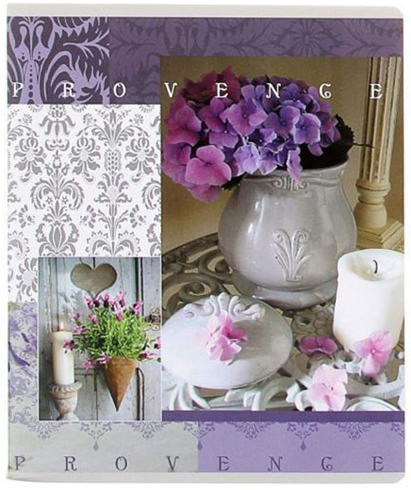 Полиграфика Тетрадь, 96л Provence свеча с фиалкой72523WDПолиграфика Тетрадь, 96л Provence свеча с фиалкой